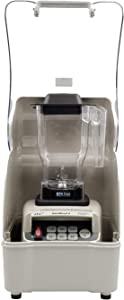 OmniBlend Omni-Q Gray Edition Commercial Blender with Full Sound Enclosure Shield, Quiet Heavy Duty 3-Speed, Self-Cleaning, Includes Multifunctional 2-in-1 Wet Dry Blades, 1.5 Liter Jar