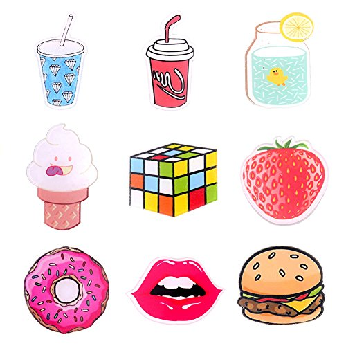 ONINIT Acrylic Brooches Set Drink and Food Pin Badge for Clothes/Bags/Backpack (9 - Badge Acrylic