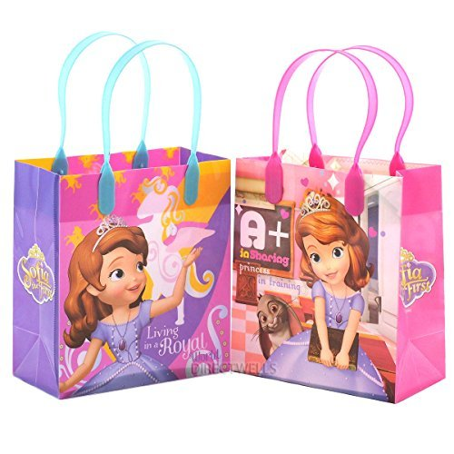 Disney Princess Sofia Party Favor Goody Small Gift Bag (12 Bags) -