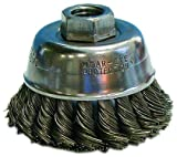 Osborn 00033467SP 33467Sp Knotted Wire Cup Brush, Stainless Steel, 0.02''