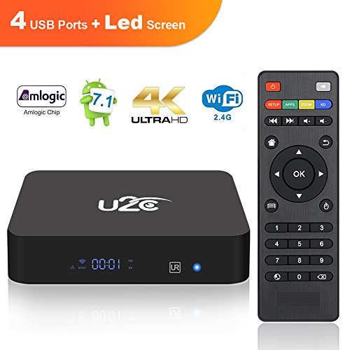New Model Android 7.1,KUD X PRO Amlogic S905X 2GB RAM 8GB ROM Quad Core Smart TV Box Support HD 4K, 3D, 2.4GHz Wifi, H265 Media Player by KUD