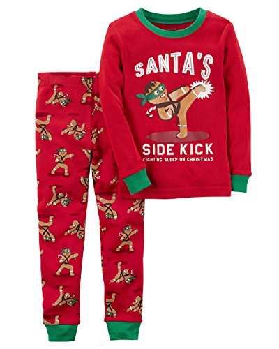 Toddler Gingerbread - Carter's Baby Boys' 12M-4T 2 Piece Gingerbread Snug Fit Cotton Pajamas 3T