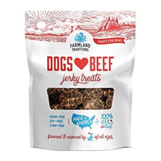 Farmland Traditions Filler Free Dogs Love Beef Premium Jerky Treats for Dogs, 13.5 oz. Bag