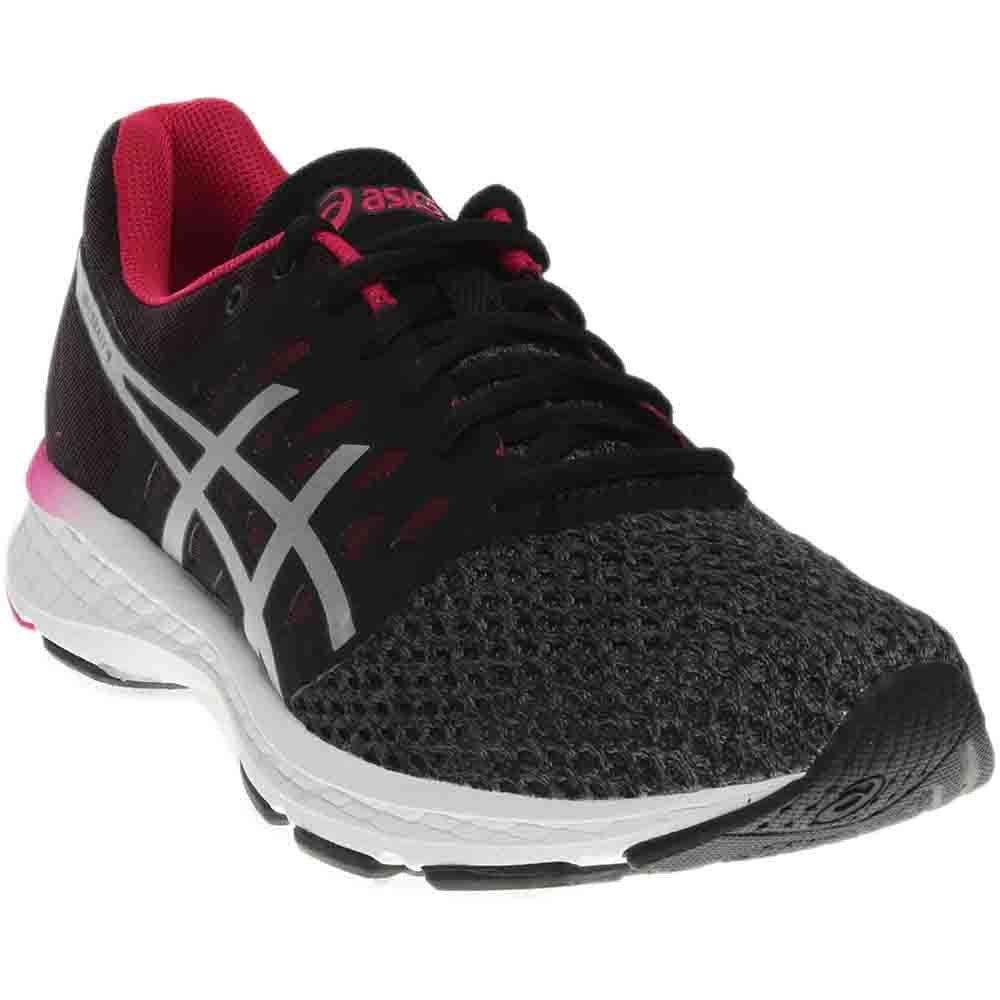 ASICS Women's Gel-Exalt 4 Running Shoe, Carbon/Silver/Cosmo Pink, 7 Medium US