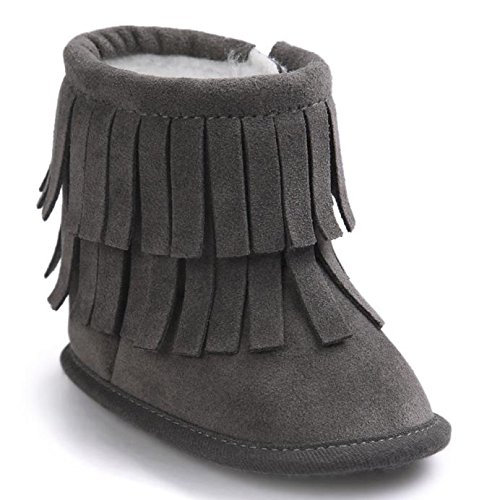 Zapatos para bebé, Culater Patucos de doble Capa 0~18 meses Negro