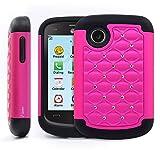lg 305c phone case - LG 306G Case / LG 305C Case, Nagebee LG 306G 305C Diamond Studded Hybrid Silicone Rubber Skin Hard Case Cover for LG 306G 305C (Diamond Hot Pink)
