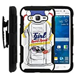 MINITURTLE Case Compatible w/Escape 3 Case, LG K8 Holster, High Impact Advanced Double Layered Hard Cover w/Stand for LG Phoenix 2 Girl Sport Speed Sweater