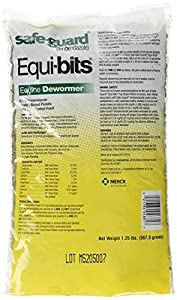 (4 Pack) Intervet Safeguard Dewormer Pellets for Horses, 1.25-Pound each