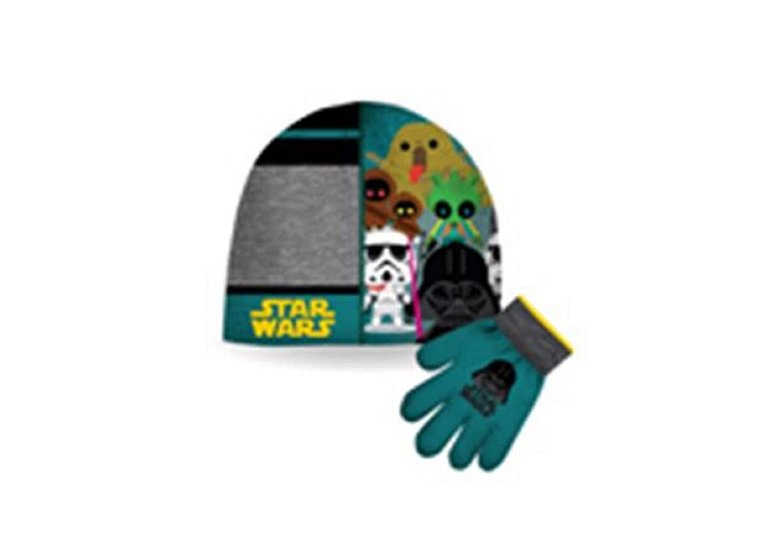 Star Wars Boy's Darth Vader Hat & Gloves Giftset Size 4-6X Gertex