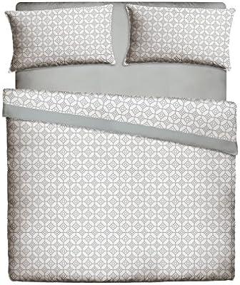 Casa Lieri - Juego de sábanas, algodón, 50% poliéster, colorgris. Cama de 135 (Todas las medidas): Amazon.es: Hogar