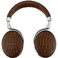 Parrot Zik 3 Wireless Noise Cancelling Touch Control Bluetooth Headphones (Brown Croc) with Parrot Interchangable Battery for Zik 2 and Zik 3