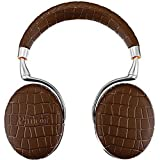 Parrot Zik 3 Wireless Noise Cancelling Touch Control Bluetooth Headphones (Brown Croc) with Parrot Interchangable Battery for Zik 2 and Zik 3 For Sale