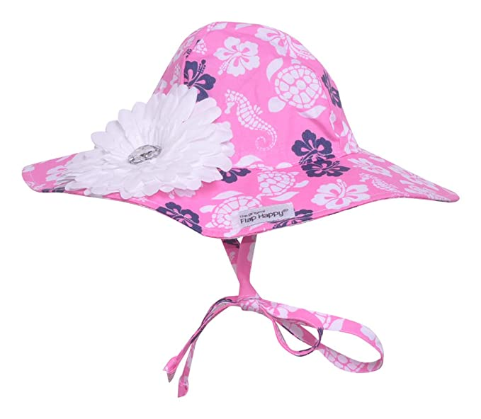 Amazon.com  UPF 50+ Floppy Hat w Flower  398aa1355a24