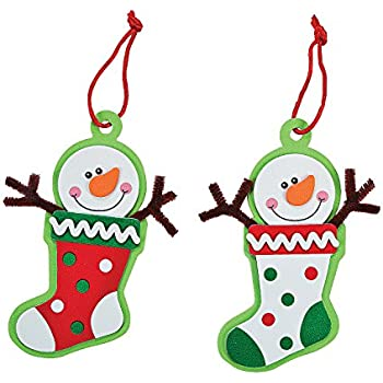 Foam Snowman Stocking Christmas Ornament Craft Kit