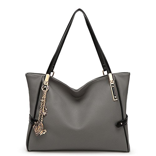 9279e2efc927 Abshoo Women Shoulder Bag PU Leather Tote Crossbody Purse Handbags (Grey)