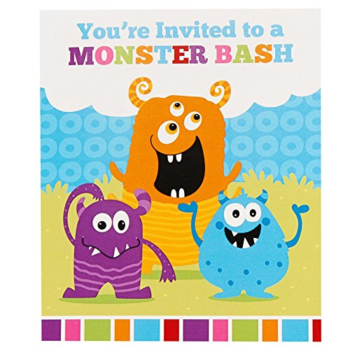 Aliens and Monsters Party Supplies - Invitations (Monster Party Invitation)