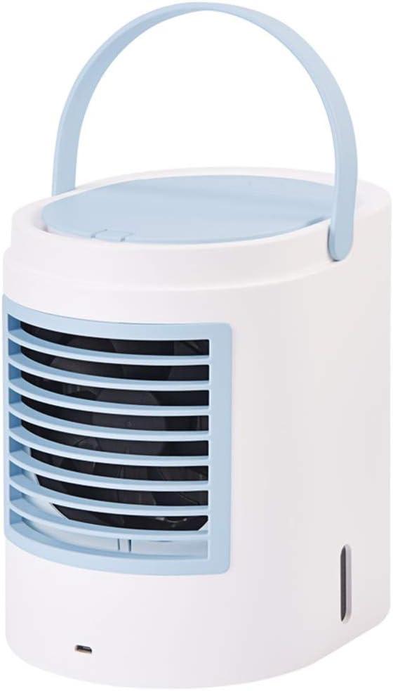 DCC Coche de refrigeración del Ventilador eléctrico 12V 24V camión Grande Pequeño Potente Aire Acondicionado de enfriamiento del refrigerador del Artefacto (Color : Blue)
