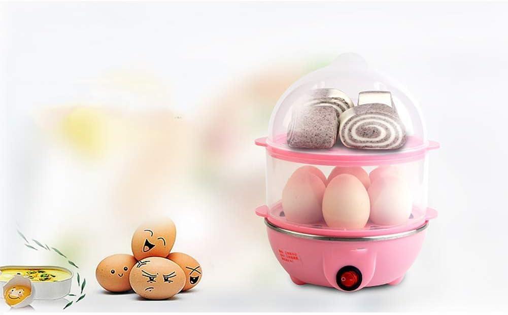 Aquila Il Cibo Doppio Livello Multi Elettrico Egg Funzione Caldaia con Poacher e Steamer allegati, in Acciaio Inox (Colore: C) AQUILA1125 (Color : A) D