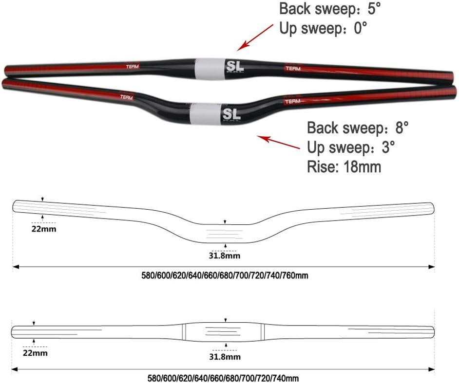 RXL SL Manillar Bici MTB Fibra de Carbono Plano//Riser Manillar 31.8mm