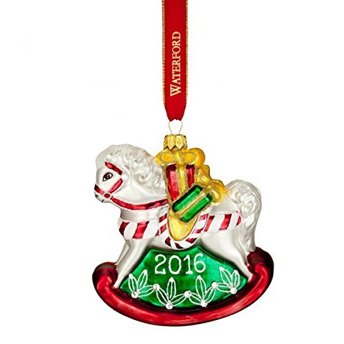 (Waterford 2016 Holiday Heirloom Nostalgic Collection Baby's First Rocking Horse Ornament )