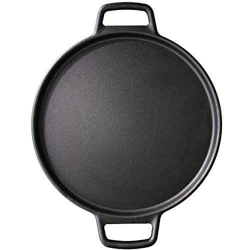 ROYAL KASITE Preseasoned Cast Iron Pizza Pan,14.8-Inch by ROYAL KASITE (Image #4)