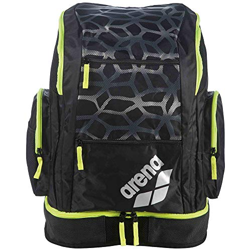 Arena Spiky 2 Spider Print Large Backpack, Spider Darkgrey/Fluoyellow, Size NS