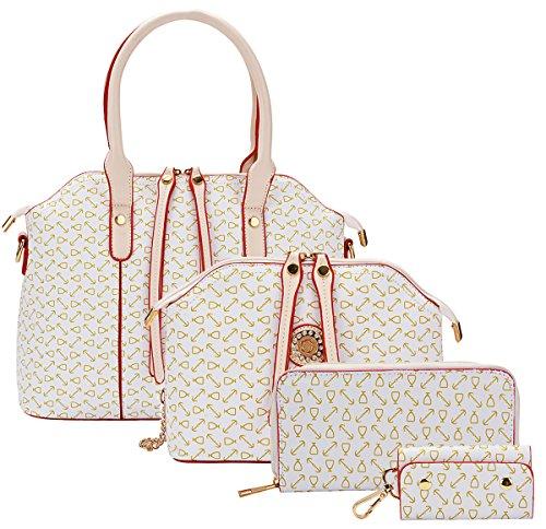 Women 4Pcs Handbags Set Elegant Zipper PU Business Shoulder Handbags