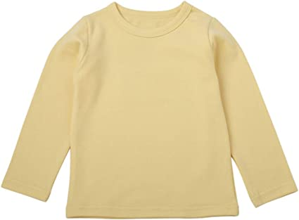 Children Kid Baby Girls Boys Catoon Solid T-shirt Tops Shirts Tee Casual Clothes