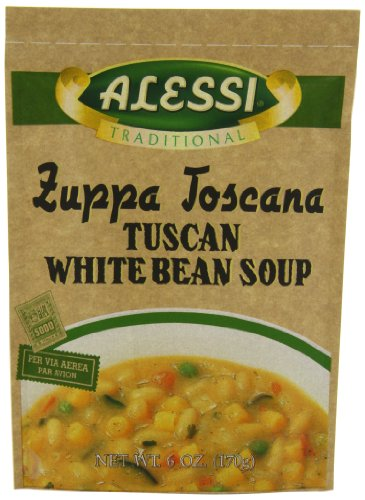Price comparison product image Alessi Zuppa Toscana Tuscan White Bean Soup, 6 Ounce, (Pack of  6)