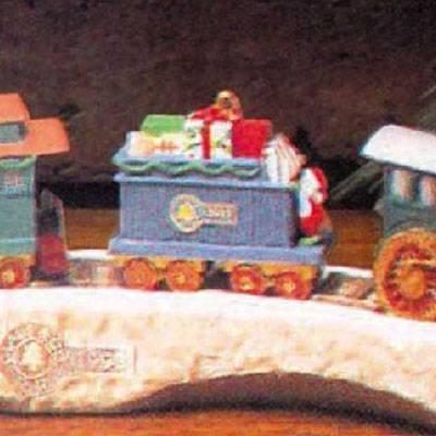 Gift Car Claus & Co. RR Series 1991 Hallmark Ornament XPR9731 (Rr Car)