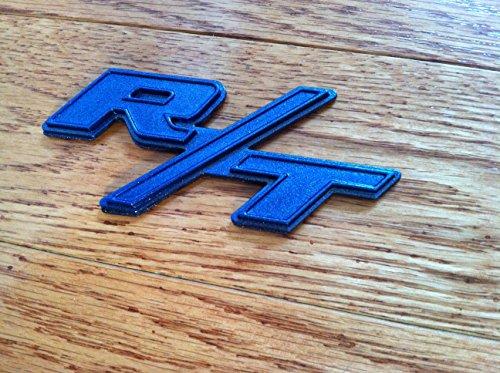 Rt rt emblem custom metallic blue fits hemi dodge ram charger save publicscrutiny Choice Image