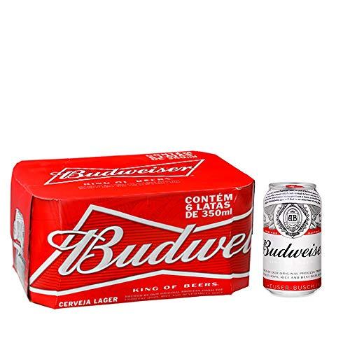 Cerveja Budweiser 350ml Pack (6 unidades)