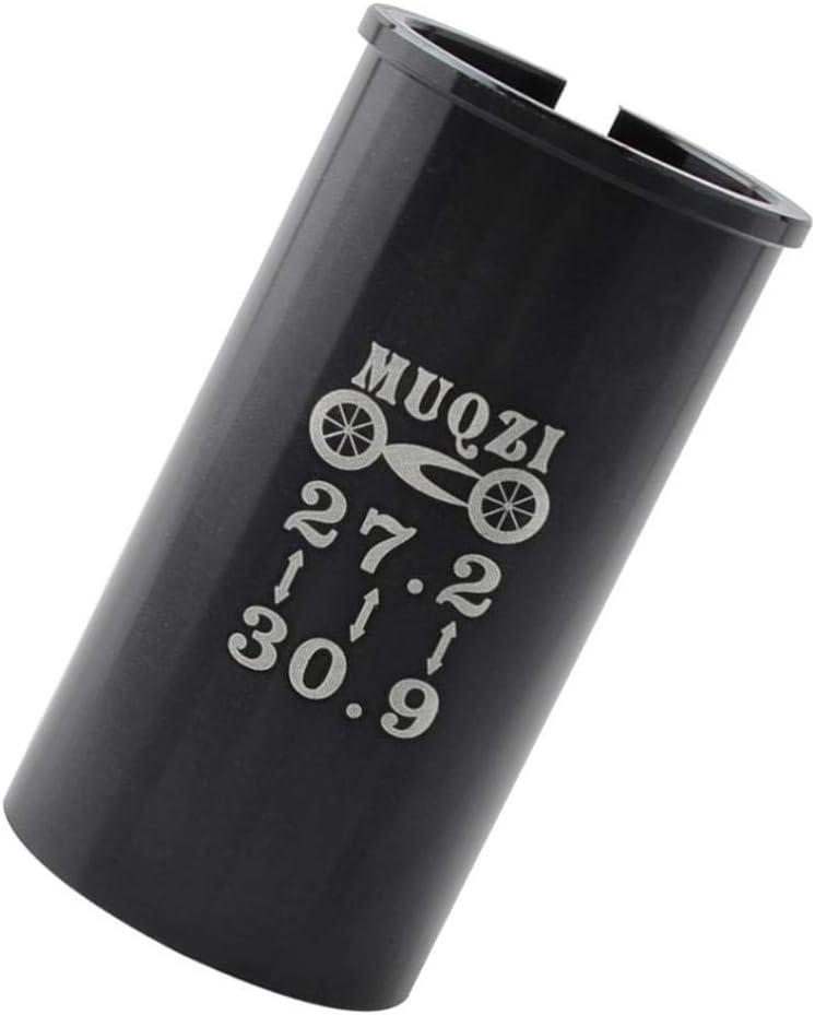 6cmLength,Black 27.2mm Seatpost to 30.9mm Bike Seat Tube Sleeve Shim Adapter