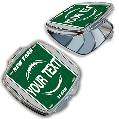 Jets New York Green Mirror - BRGiftShop Customize Your Own Football Team New York Green and White Compact Pocket Cosmetic Mirror
