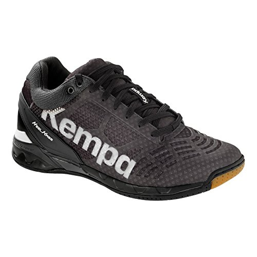adidas Men's Attack Midcut Handball Shoes, Black (Schwarz/Weiß Schwarz/Weiß)