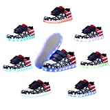 Voovix Kids LED Light up Shoes USA American Flag