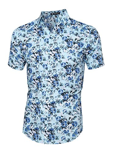 Allegra Sleeve Button Floral Hawaiian