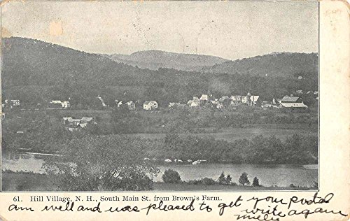 Hill Village New Hampshire South Main Street Scene Antique Postcard - South Stores Village In Hills