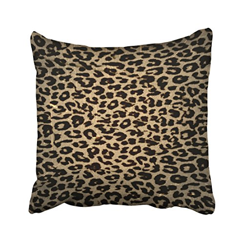 Tarolo Decorative Vintage Leopard Print Skin Throw Pillow Cover Cotton Polester Throw Pillow Case Decor Cushion Covers Size 20x20 inches(50x50cm) One Sided