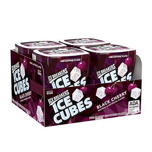- Ice Breakers Ice Cubes Sugar Free Gum With Xylitol, Black Cherry, 40 Piece (Pack of 4)