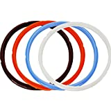 Lozom Silicone Sealing Ring, 4pcs, Orange & Common Transparent White&Savory Sky Blue&Rich Brown, Fit for 5qt / 6qt (5/6Qt)