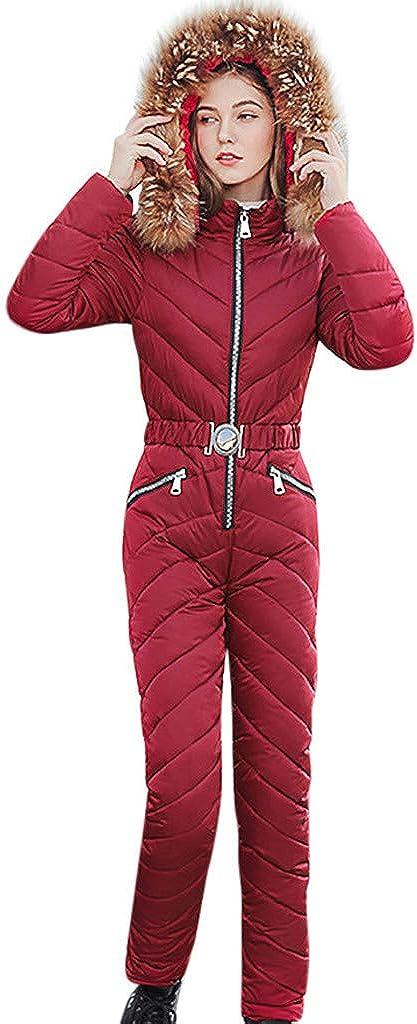 ANOKA Womens Ski Jackets and Pants Set Windproof Waterproof Snowsuit