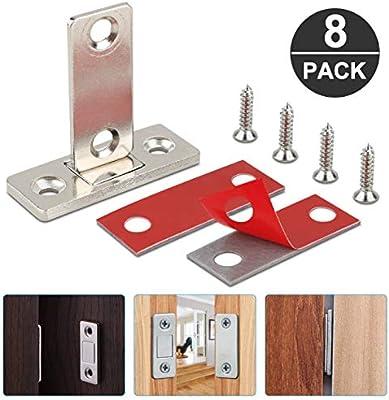 Jooheli - Cierre magnético para armario, 8 unidades, ultrafino, cierre magnético para puerta, cajón, imán para puerta, cierre magnético: Amazon.es: Bricolaje y herramientas