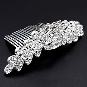 DatConShop(TM) Women's Hair Accessories Jewelry Diamond Hairpin Bride Bridesmaid Headwear Comb