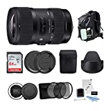 Sigma 18-35mm F1.8 Art DC HSM Lens for Canon DSLR Cameras (210101) with Sigma USB Dock + 64GB SD Card & Advanced Holiday Photo & Travel Bundle (6 Items)