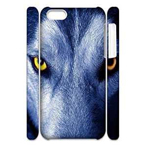 C-Y-F-CASE DIY Design Howling Wild Wolf Pattern Phone Case For iPhone 5C