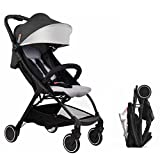 BABYSING US Lightweight Stroller 1S Fold Portable Traveling Stroller Can Take to Plane (Black)