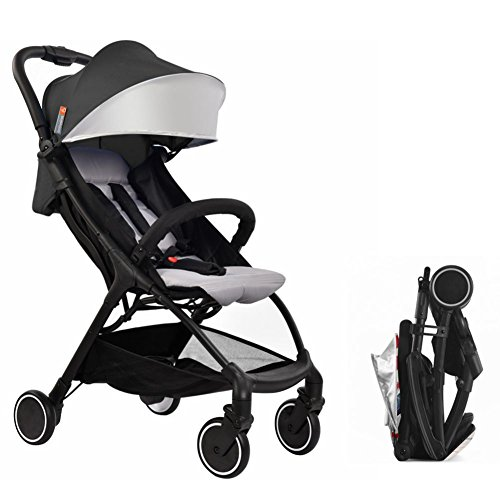 BABYSING US Lightweight Stroller 1S Fold Portable Traveling Stroller Can Take to Plane (Black) by BABYSING US