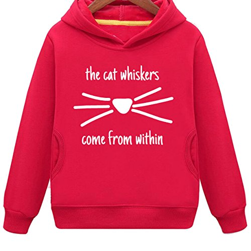Mustang Kids The Cat Whiskers Come from Within Hoodie with Side Pockets (R,S) -