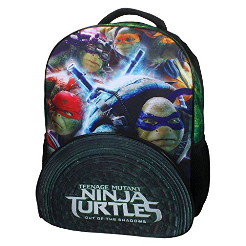 """Price comparison product image Teenage Mutant Ninja Turtles Out of the Shadows Movie Neoprene Sewer Shell,  Black 16"""" Backpack"""